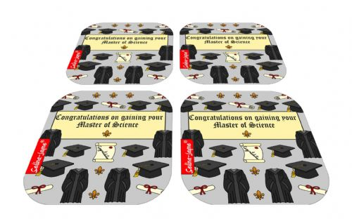 Selina-Jayne Graduation MSc Limited Edition Designer Coaster Gift Set